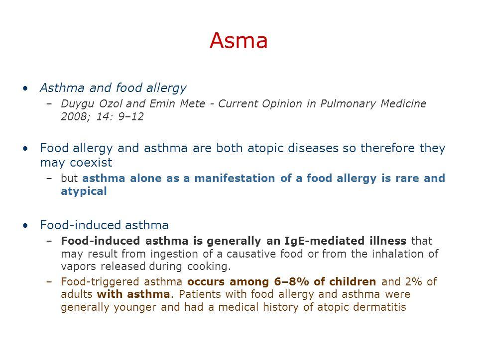 Asma Asthma and food allergy