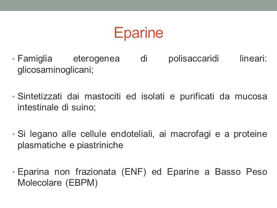 Eparine Famiglia eterogenea di polisaccaridi lineari: glicosaminoglicani;