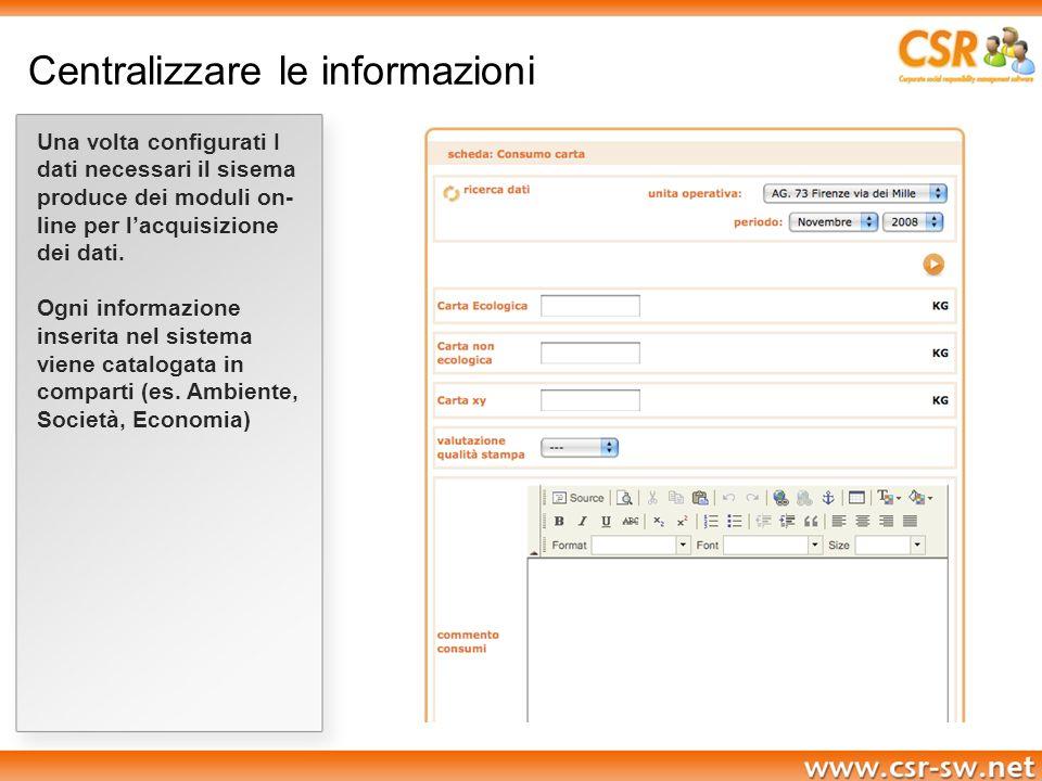 Centralizzare le informazioni