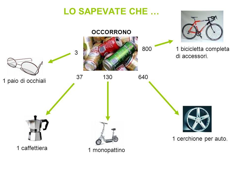 LO SAPEVATE CHE … OCCORRONO 800 1 bicicletta completa di accessori. 3