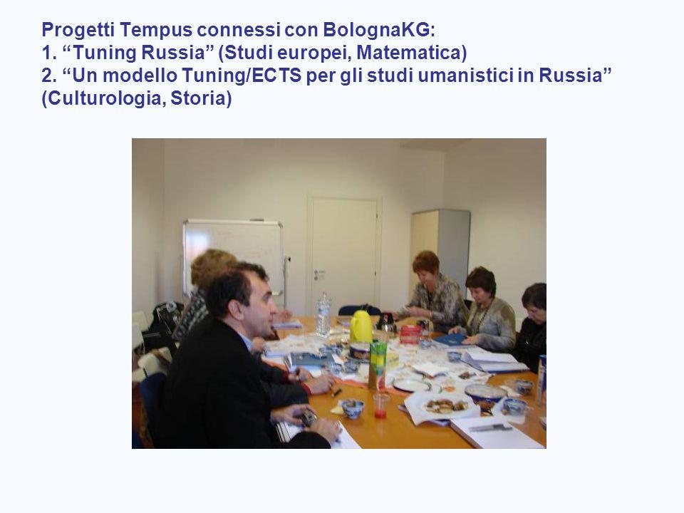 Progetti Tempus connessi con BolognaKG: 1