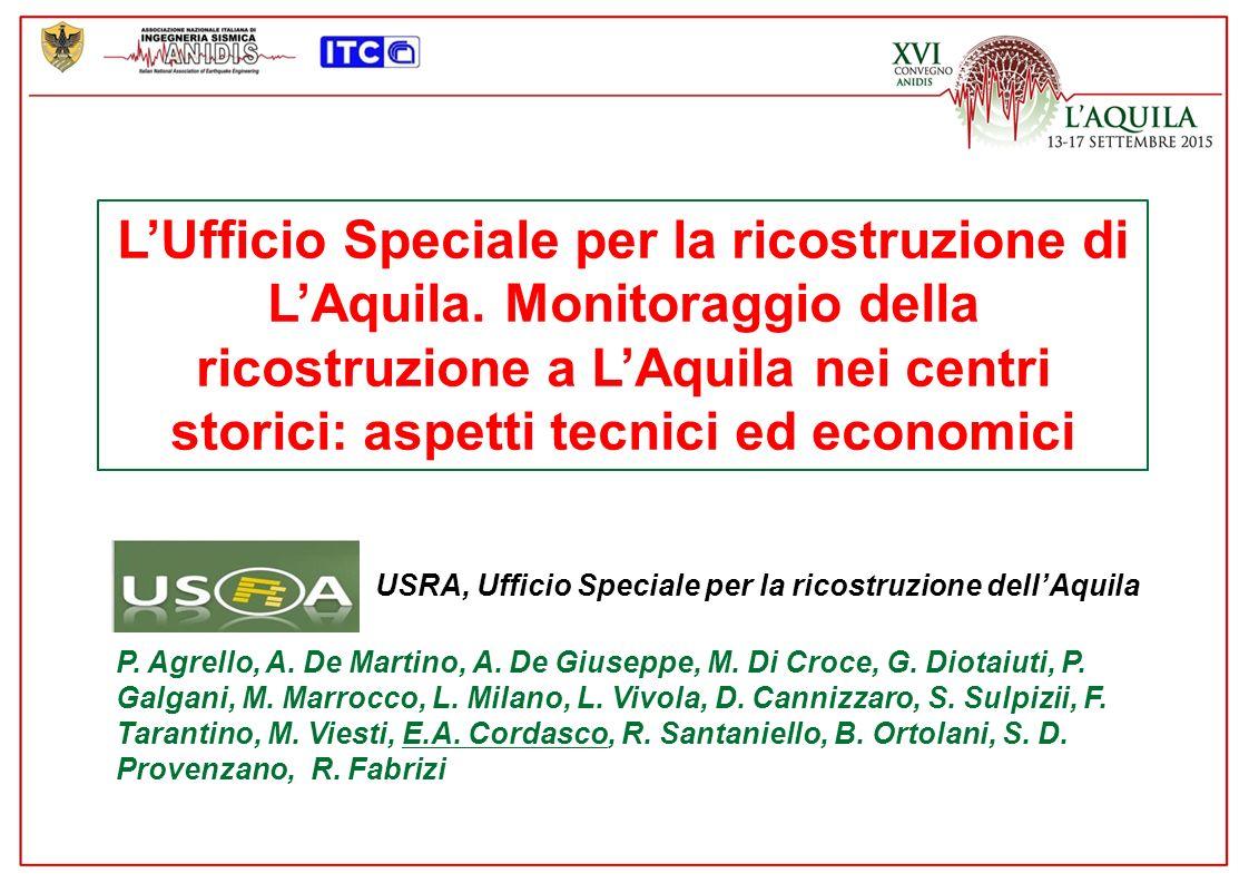 L'Ufficio Speciale per la ricostruzione di L'Aquila