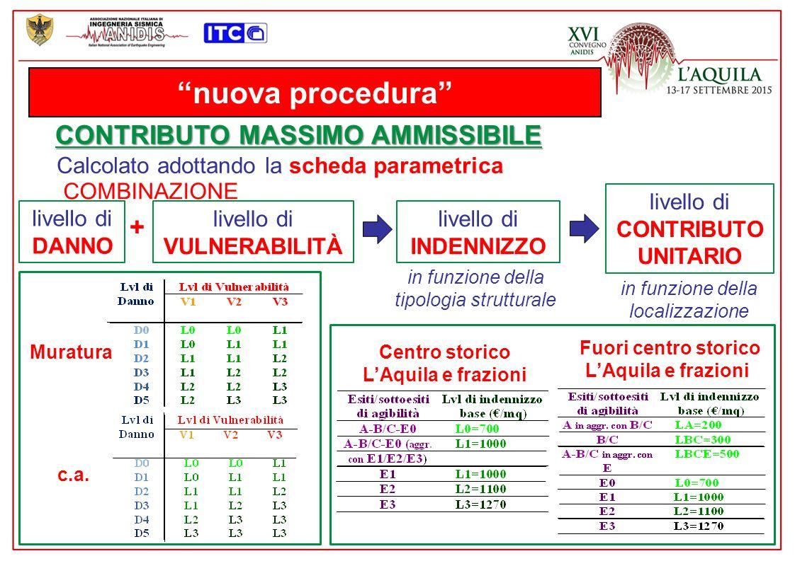 nuova procedura CONTRIBUTO MASSIMO AMMISSIBILE +