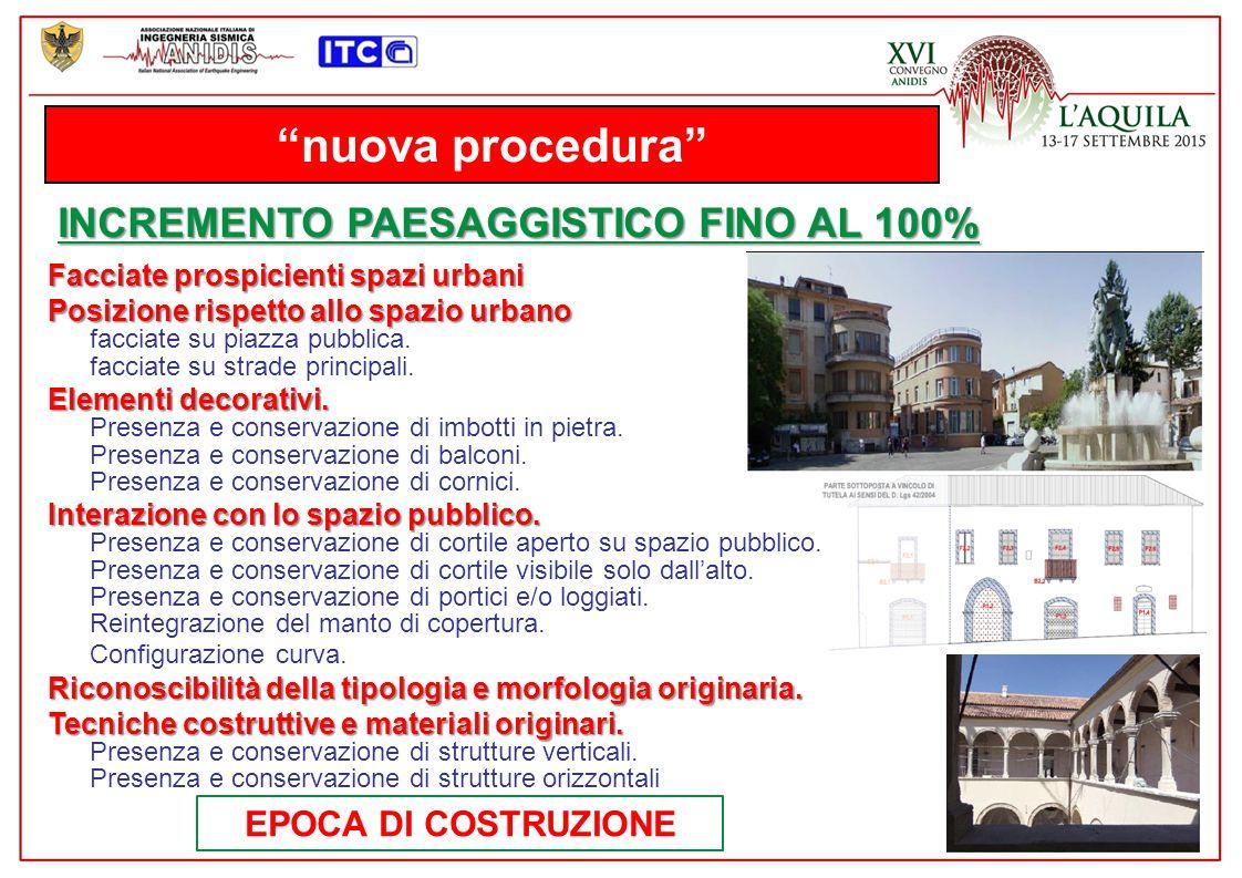 nuova procedura INCREMENTO PAESAGGISTICO FINO AL 100%
