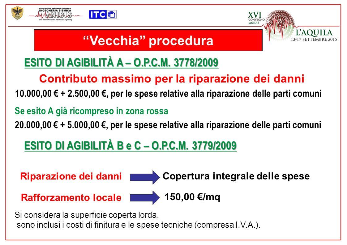 Vecchia procedura ESITO DI AGIBILITÀ A – O.P.C.M. 3778/2009
