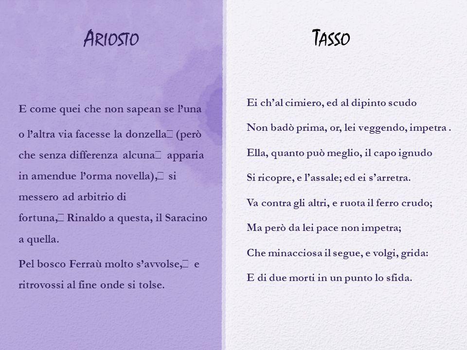 Ariosto Tasso E come quei che non sapean se l'una