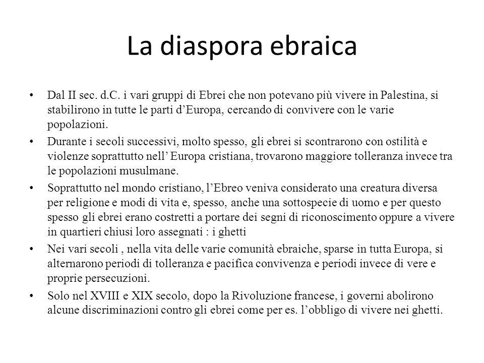 La diaspora ebraica