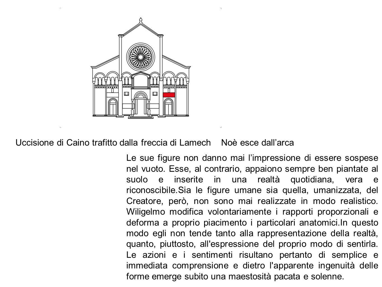 Uccisione di Caino trafitto dalla freccia di Lamech Noè esce dall'arca