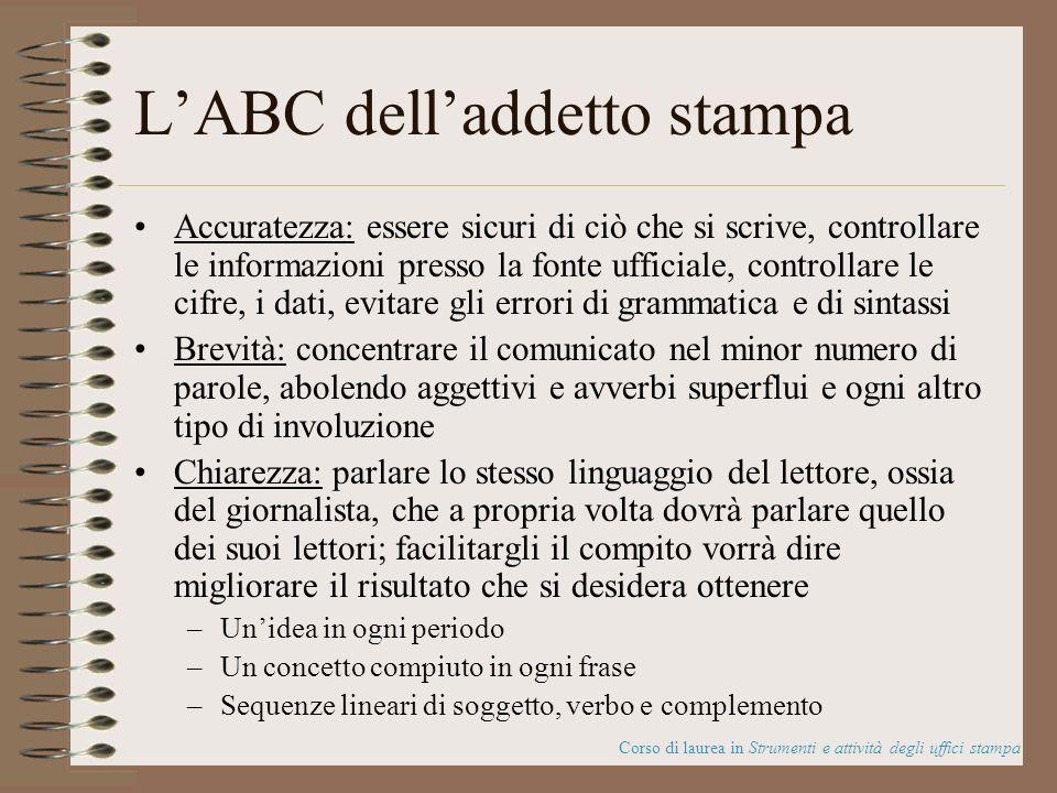 L'ABC dell'addetto stampa