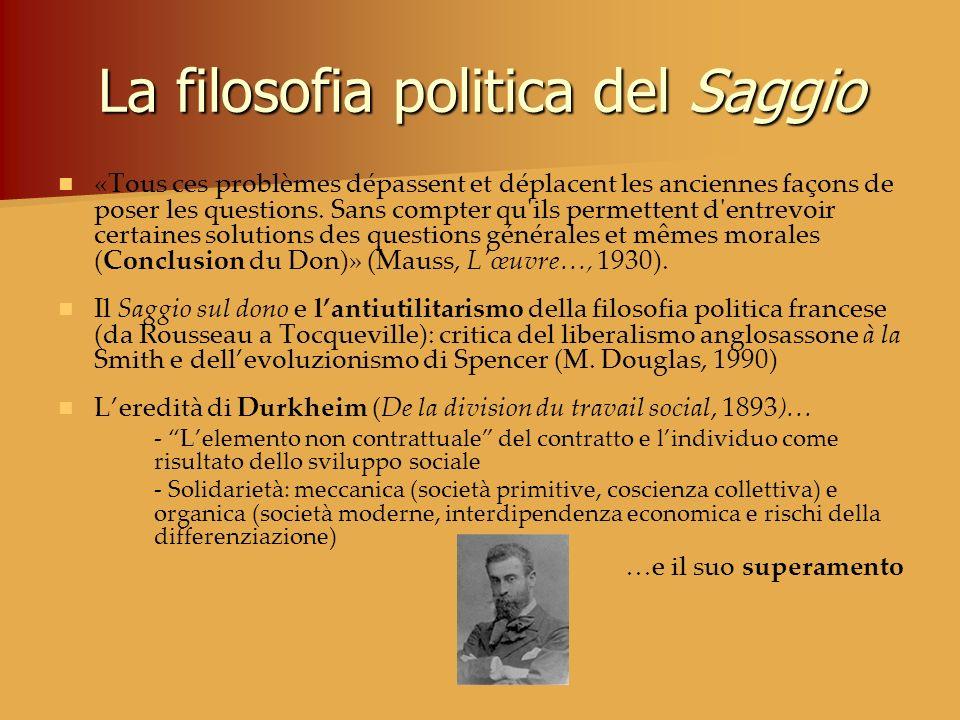 La filosofia politica del Saggio