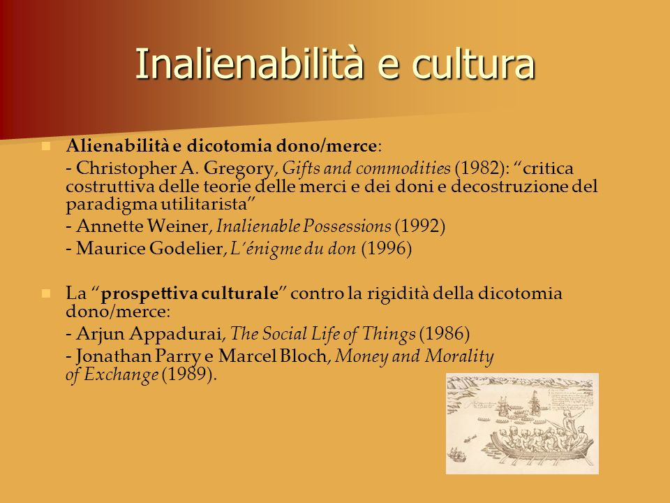 Inalienabilità e cultura