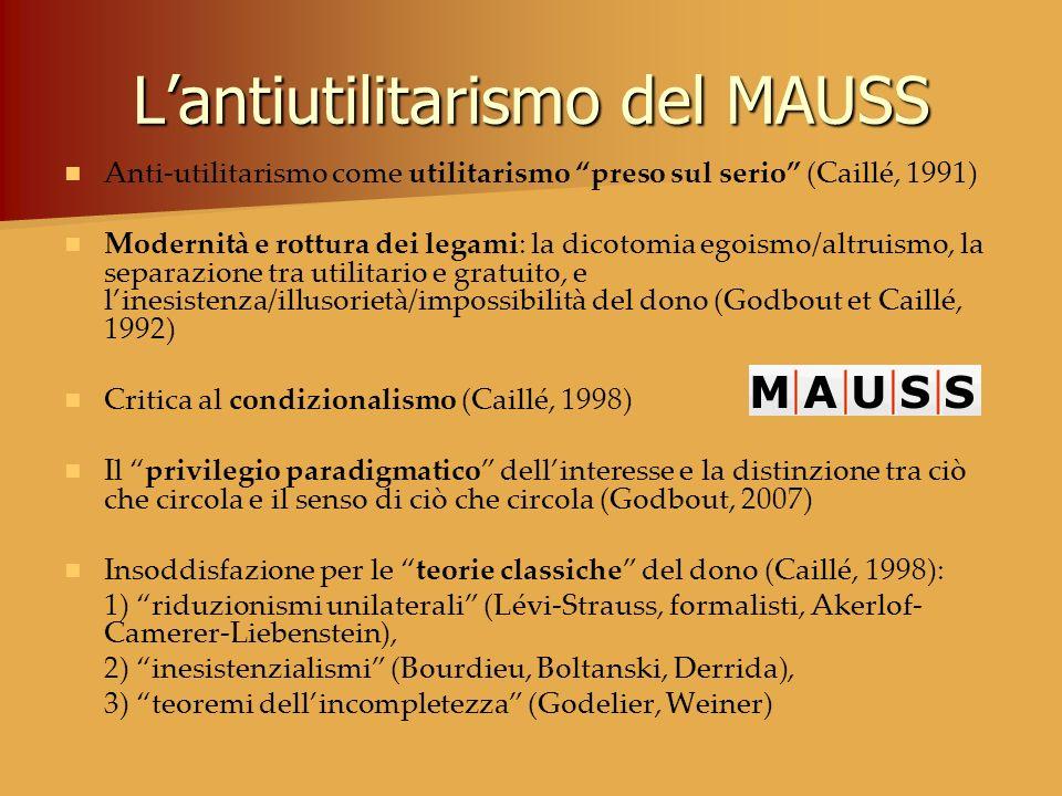 L'antiutilitarismo del MAUSS