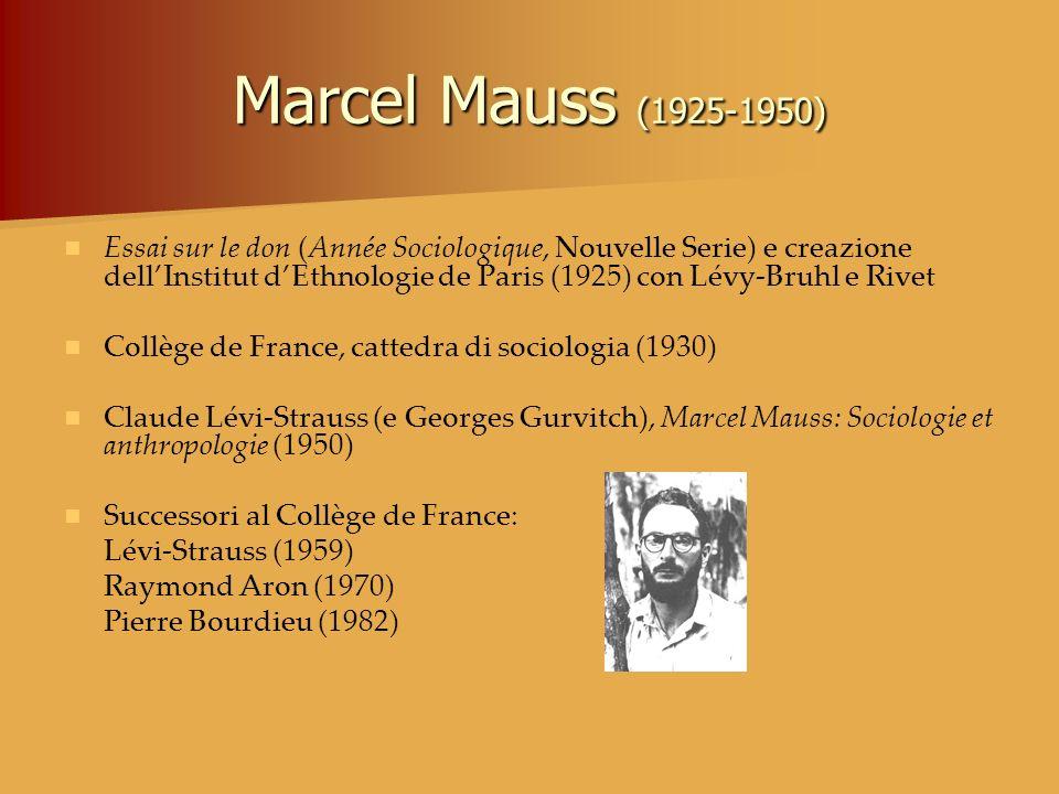 Marcel Mauss (1925-1950)