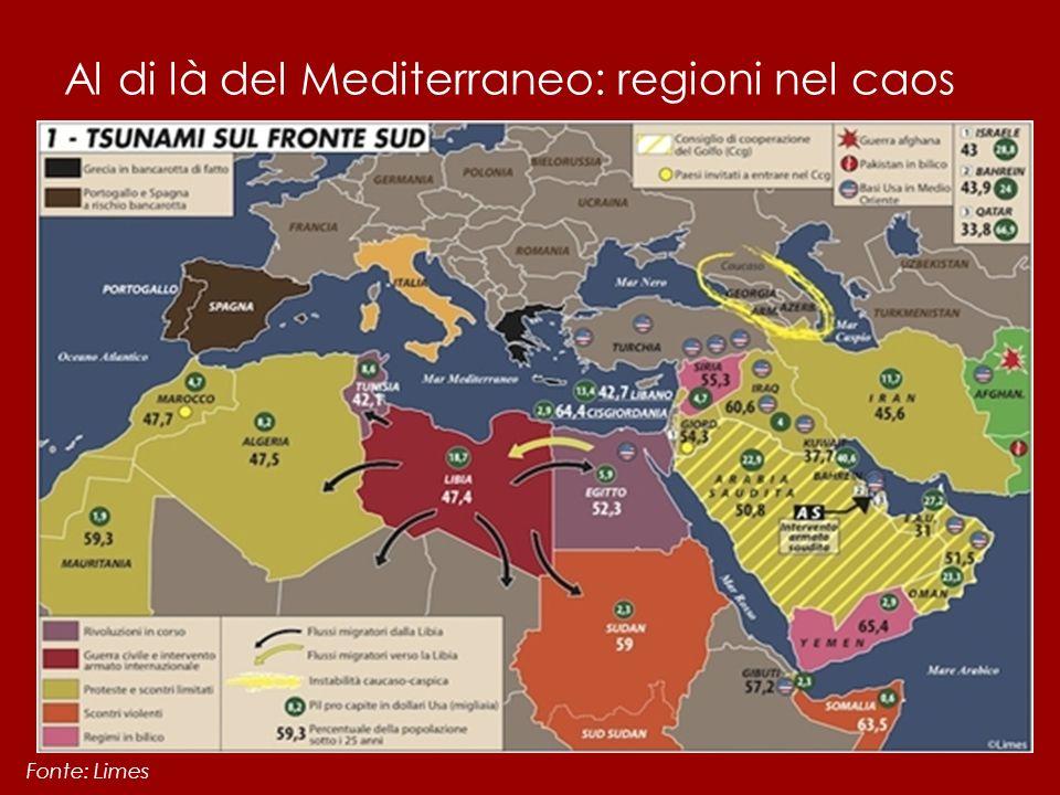Al di là del Mediterraneo: regioni nel caos