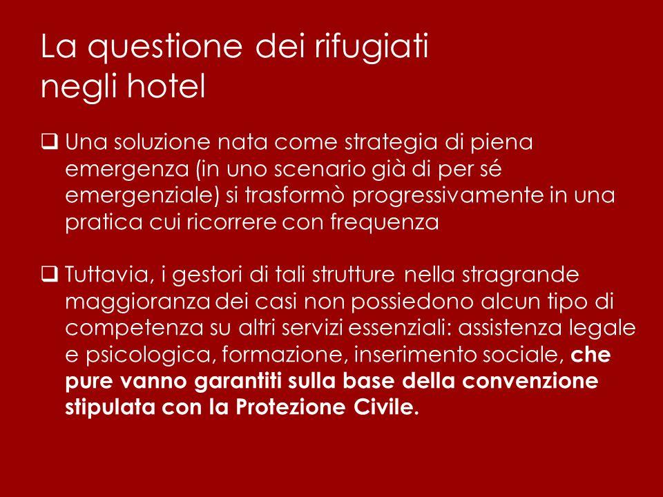 La questione dei rifugiati negli hotel