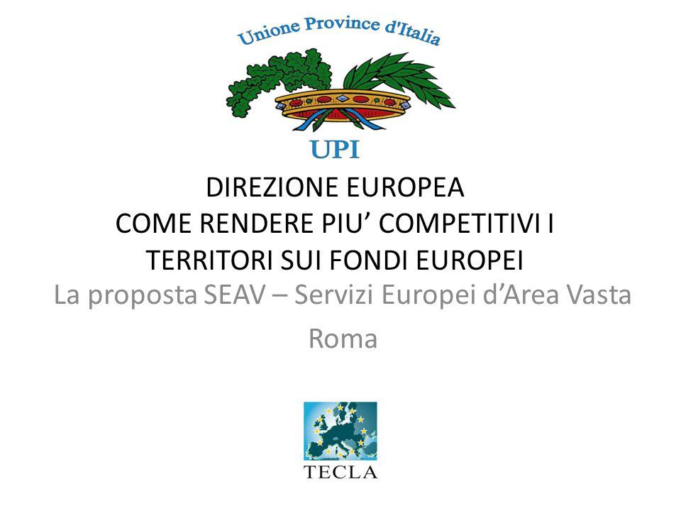 La proposta SEAV – Servizi Europei d'Area Vasta Roma