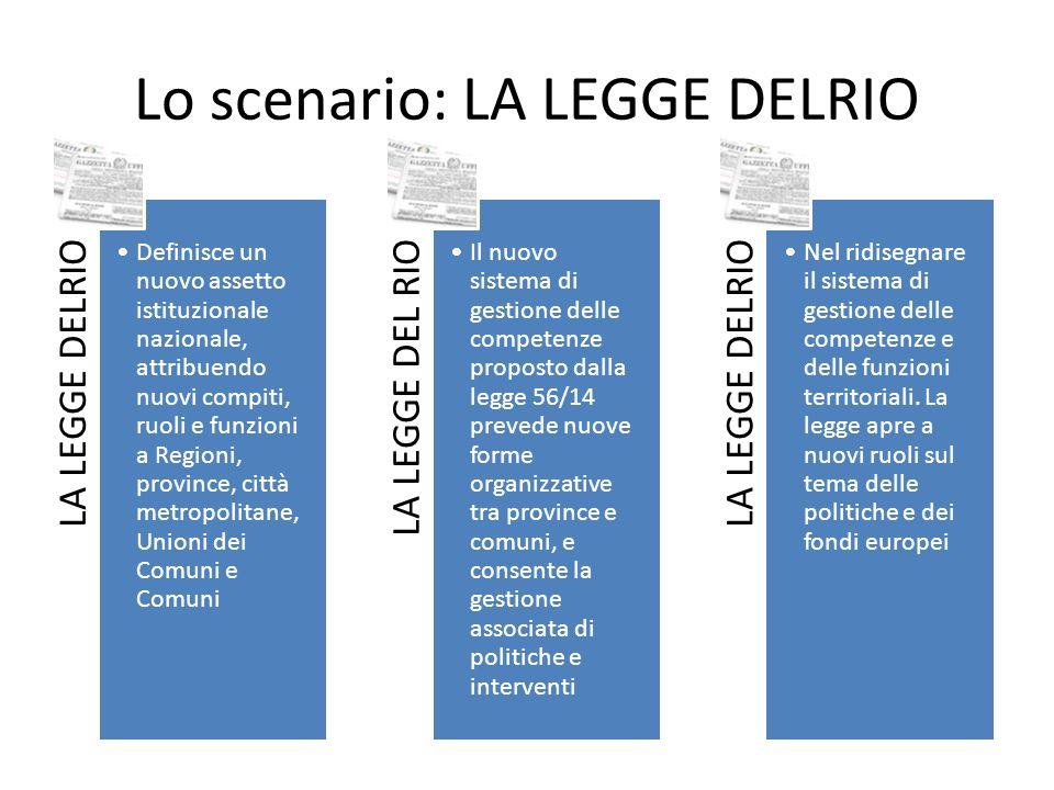 Lo scenario: LA LEGGE DELRIO