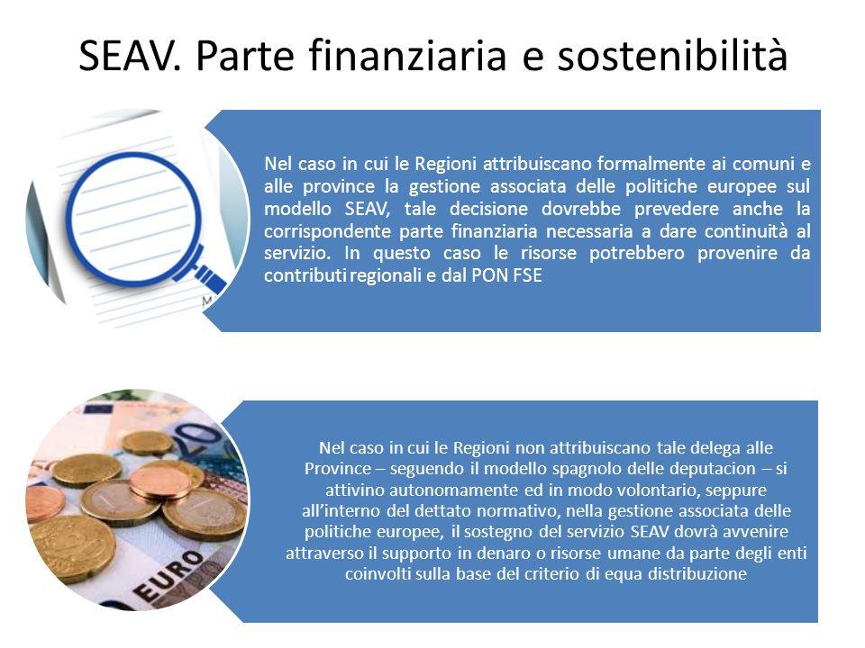 SEAV. Parte finanziaria e sostenibilità