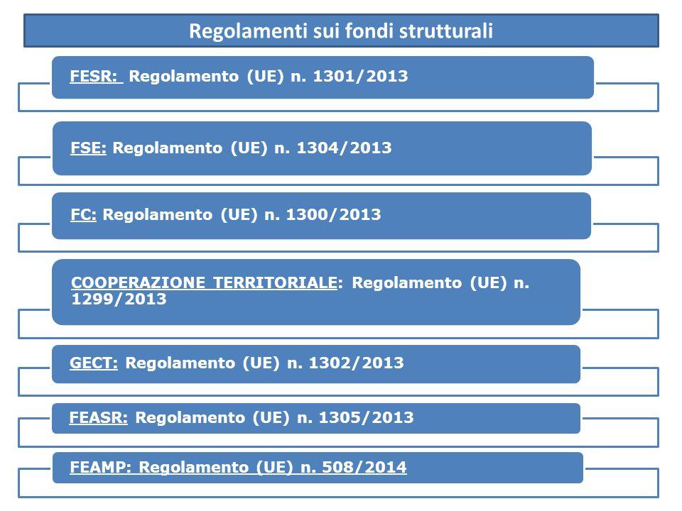 Regolamenti sui fondi strutturali