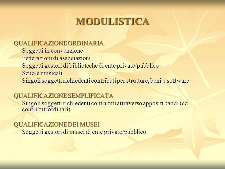 MODULISTICA QUALIFICAZIONE ORDINARIA Soggetti in convenzione