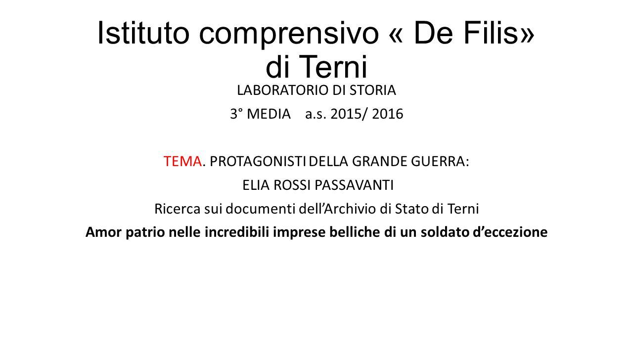 Istituto comprensivo « De Filis» di Terni