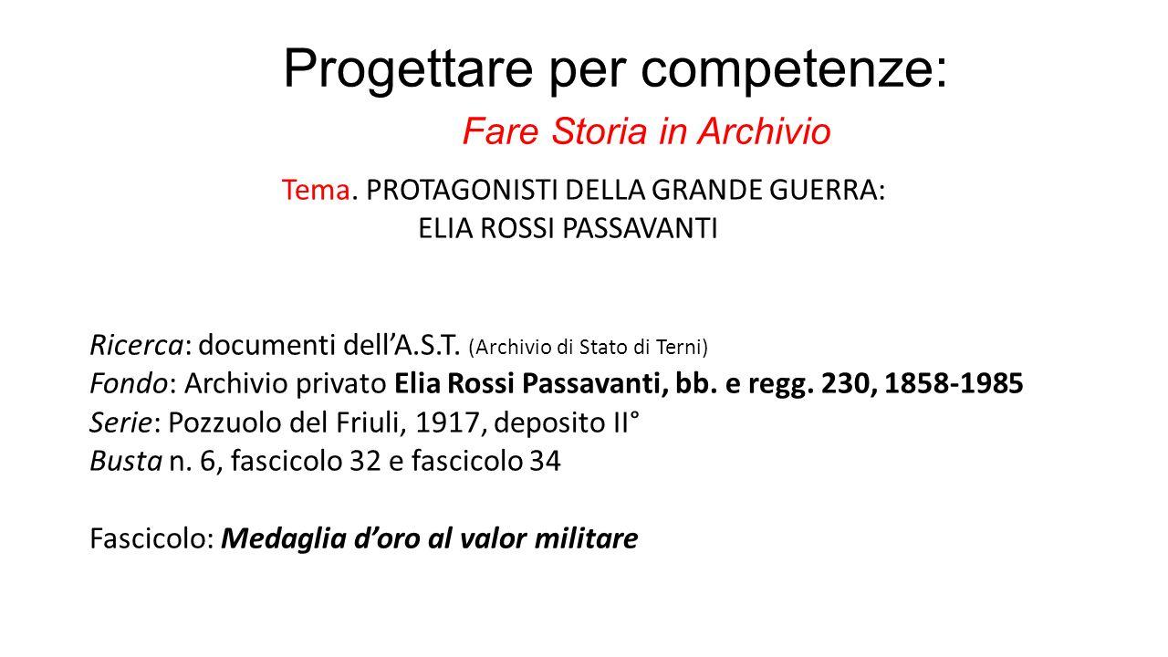 Progettare per competenze: Fare Storia in Archivio