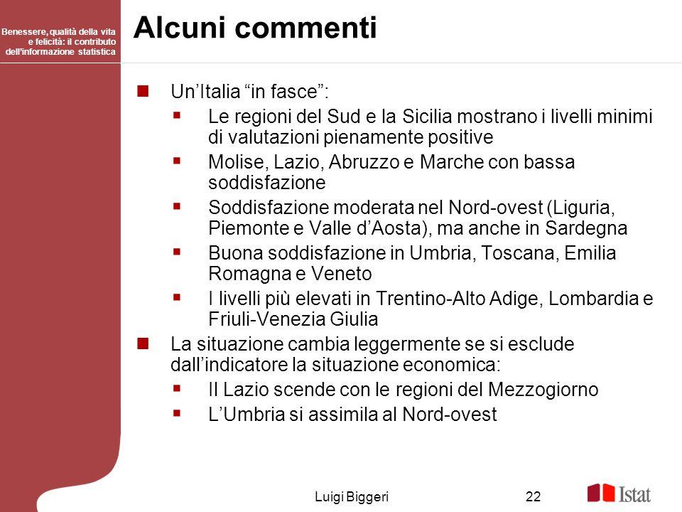 Alcuni commenti Un'Italia in fasce :