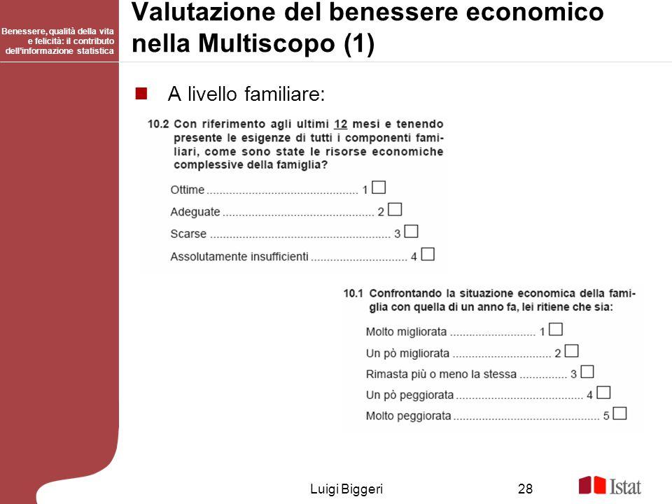 Valutazione del benessere economico nella Multiscopo (1)