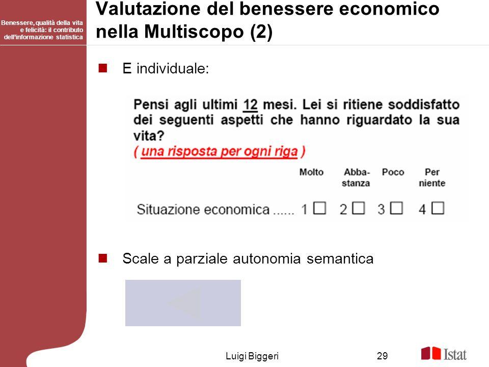 Valutazione del benessere economico nella Multiscopo (2)