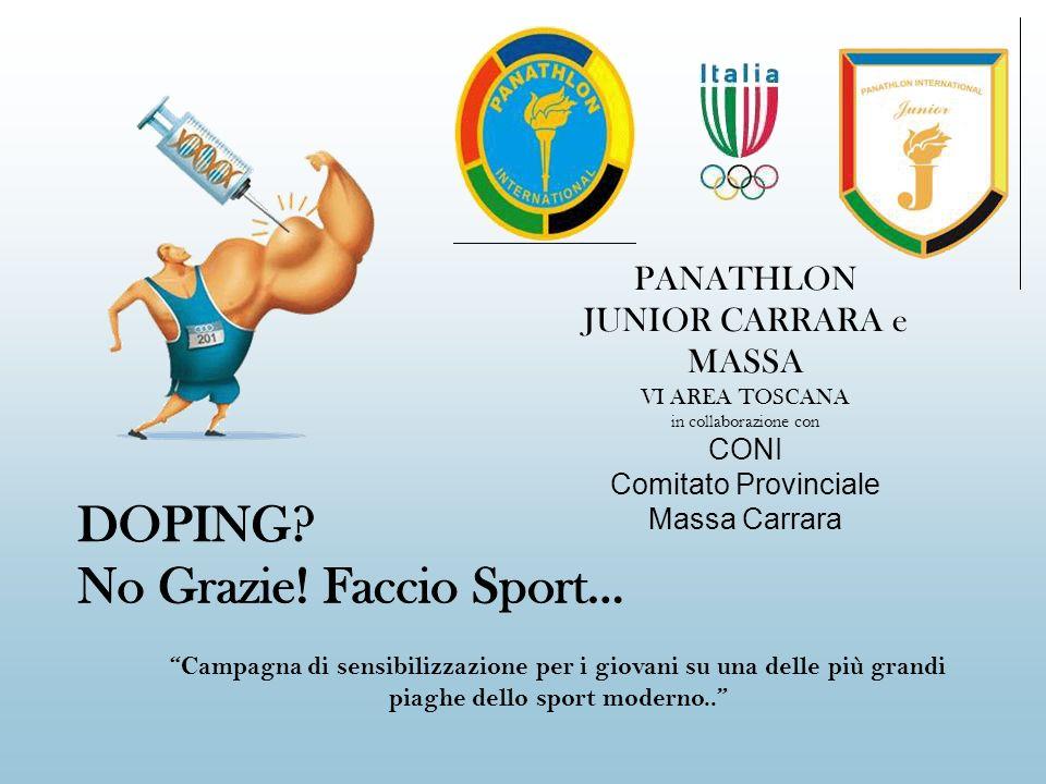 DOPING No Grazie! Faccio Sport...