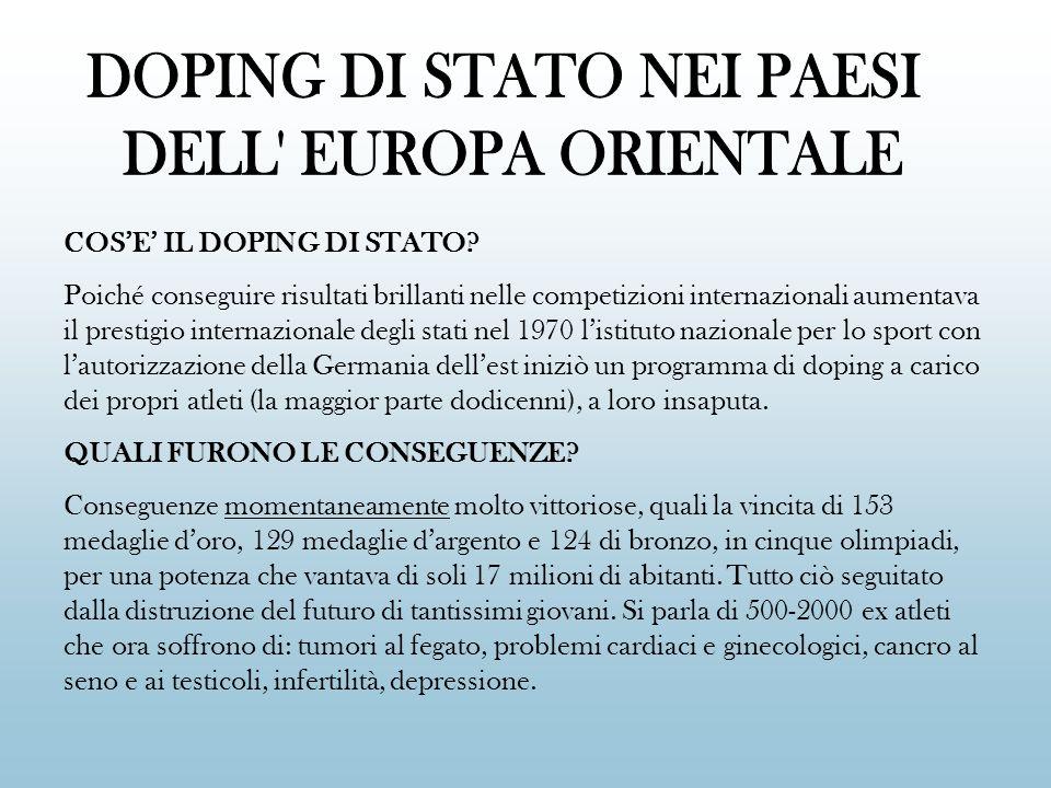 DOPING DI STATO NEI PAESI