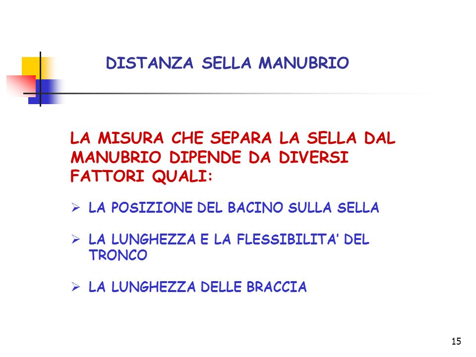 DISTANZA SELLA MANUBRIO