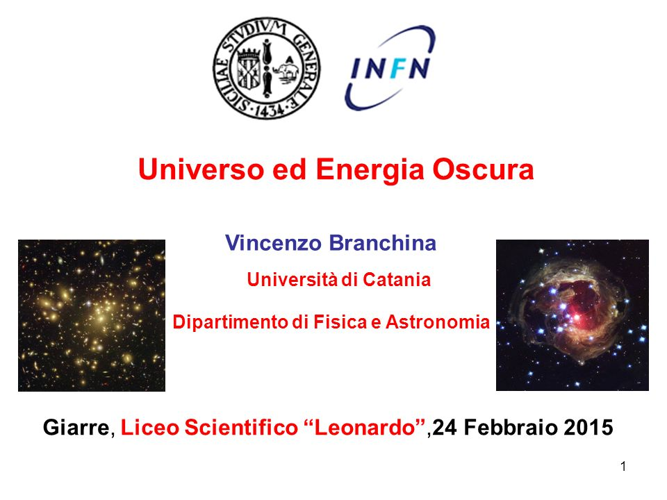 Universo ed Energia Oscura