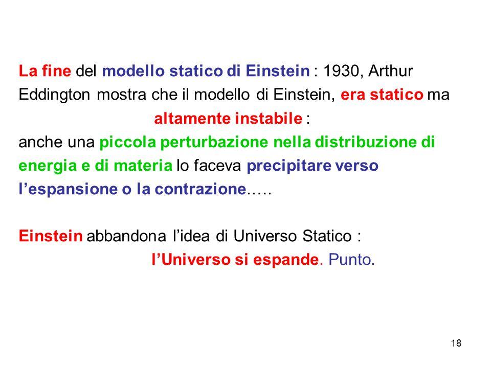 La fine del modello statico di Einstein : 1930, Arthur