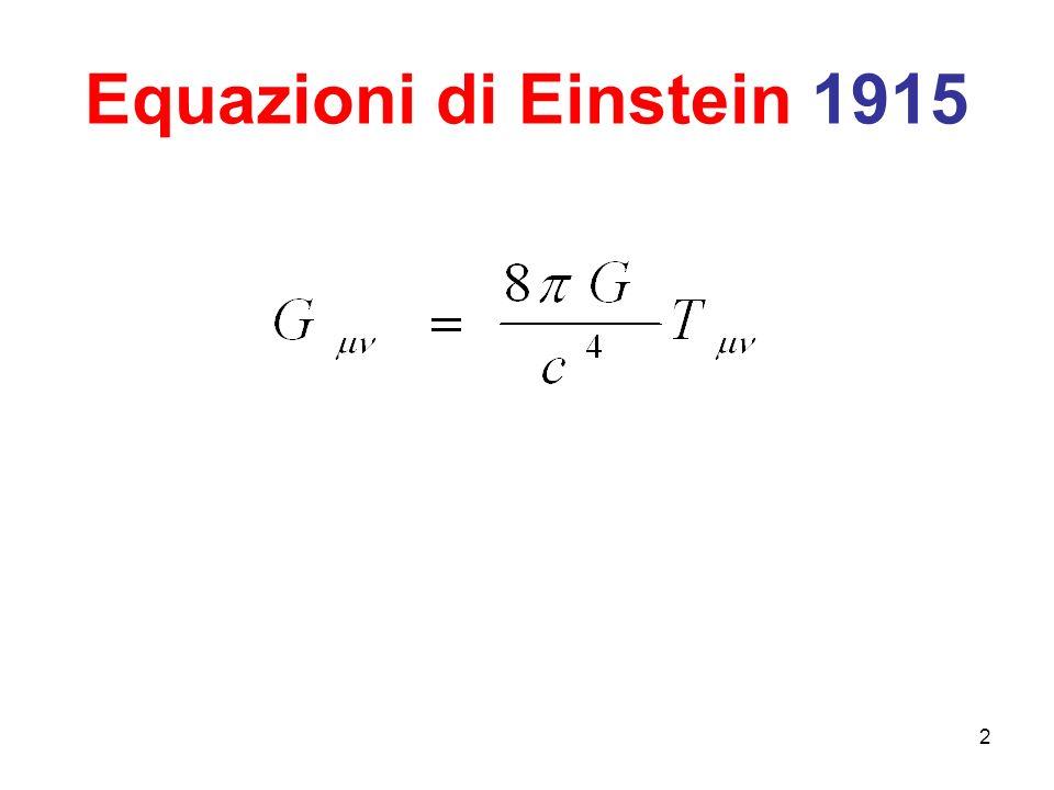 Equazioni di Einstein 1915