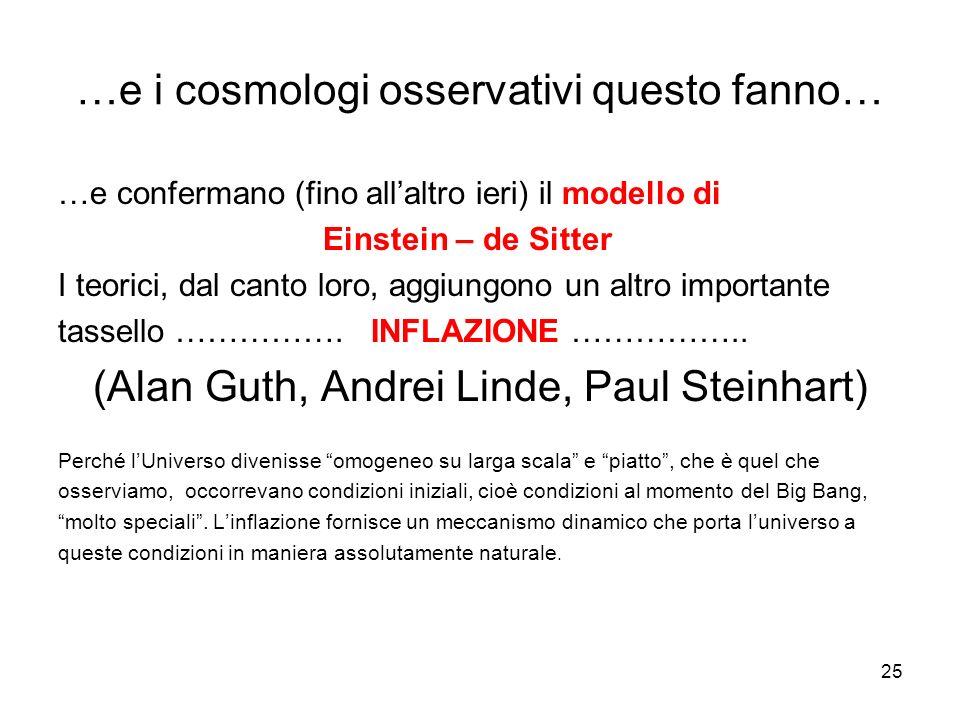 …e i cosmologi osservativi questo fanno…
