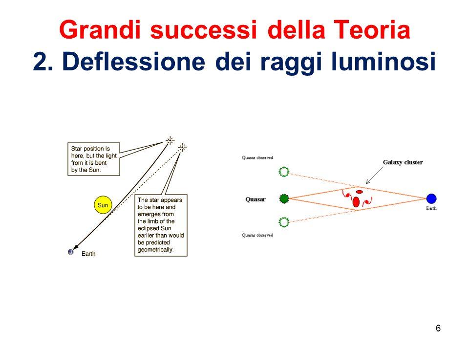 Grandi successi della Teoria 2. Deflessione dei raggi luminosi