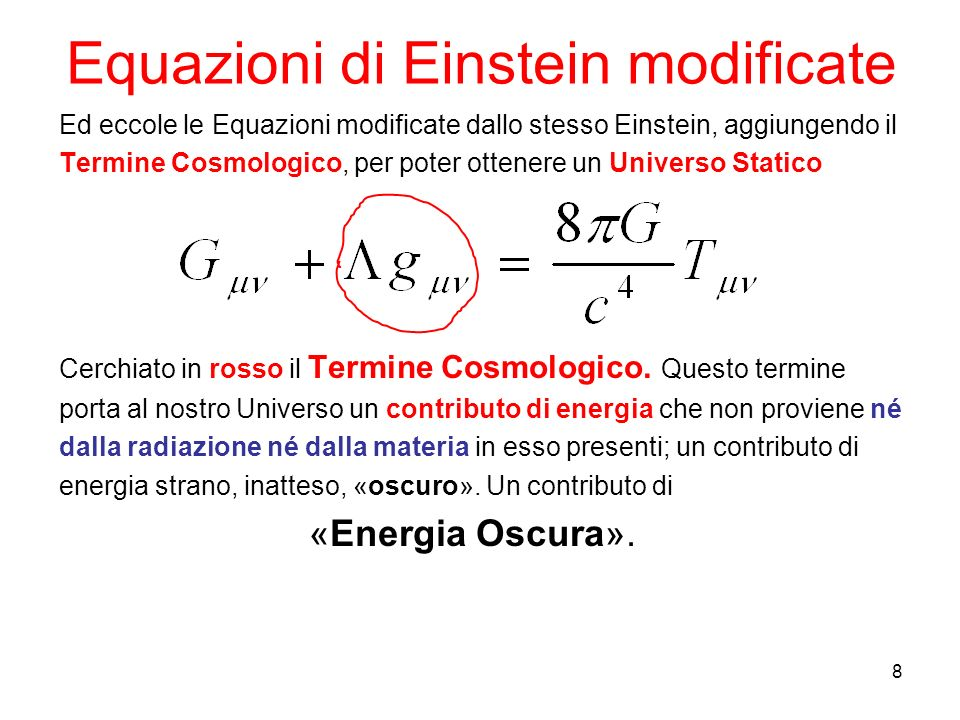Equazioni di Einstein modificate