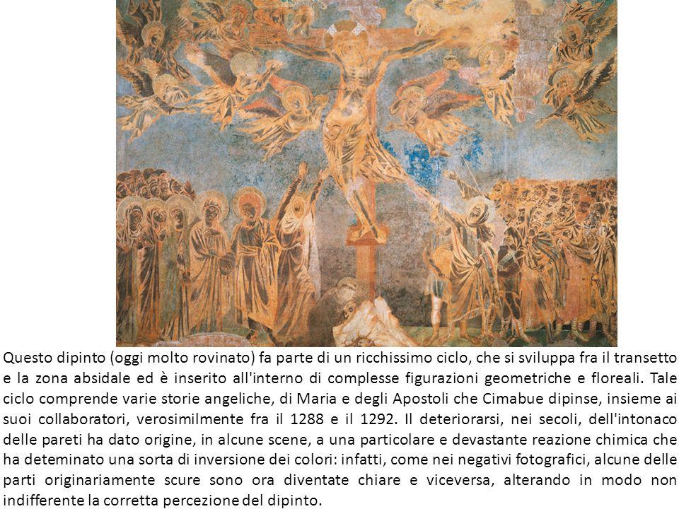 Questo dipinto (oggi molto rovinato) fa parte di un ricchissimo ciclo, che si sviluppa fra il transetto e la zona absidale ed è inserito all interno di complesse figurazioni geometriche e floreali.