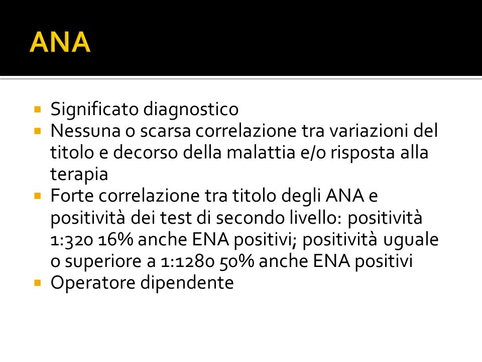ANA Significato diagnostico