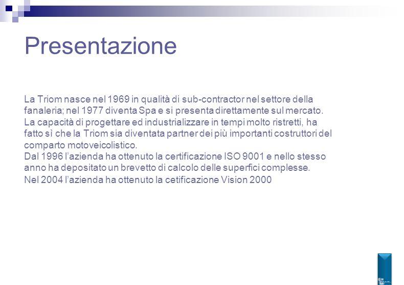Presentazione La Triom nasce nel 1969 in qualità di sub-contractor nel settore della.