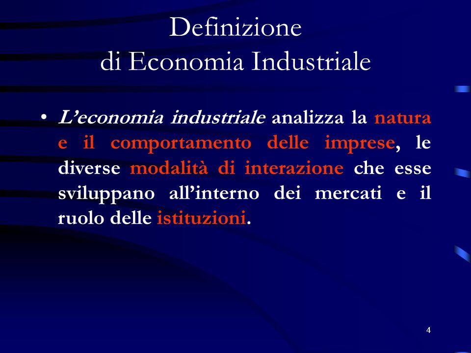Definizione di Economia Industriale