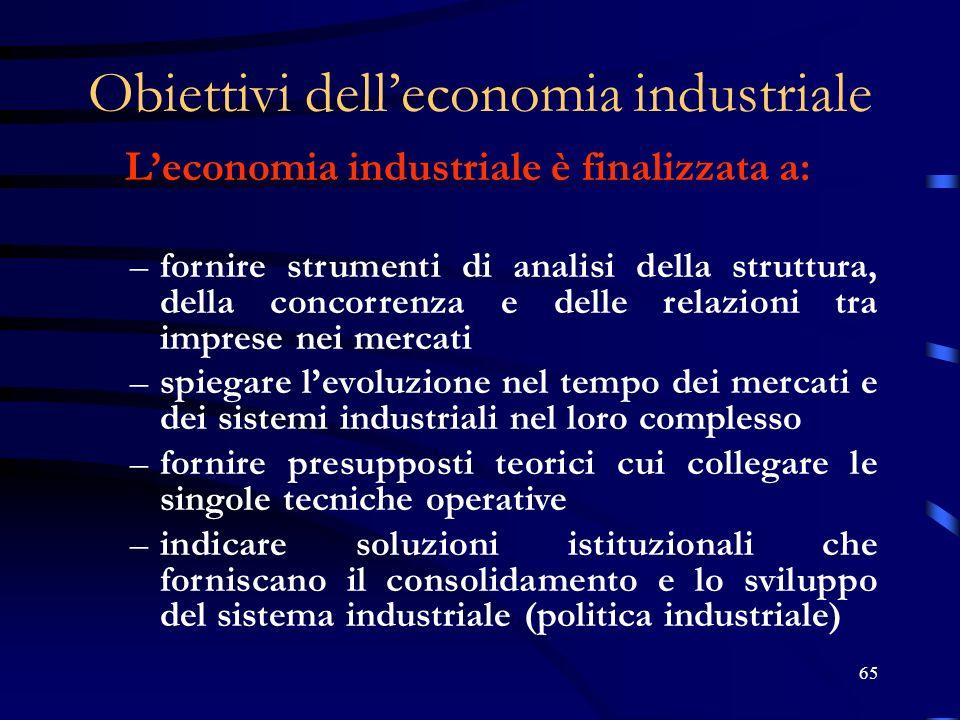 Obiettivi dell'economia industriale