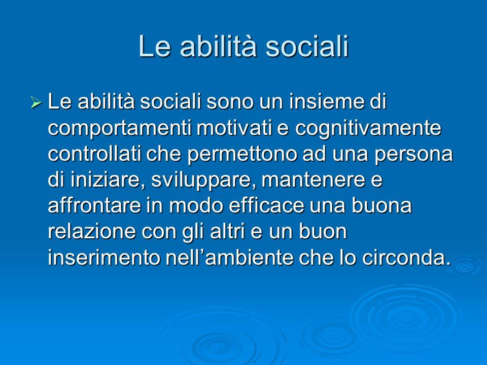 Le abilità sociali