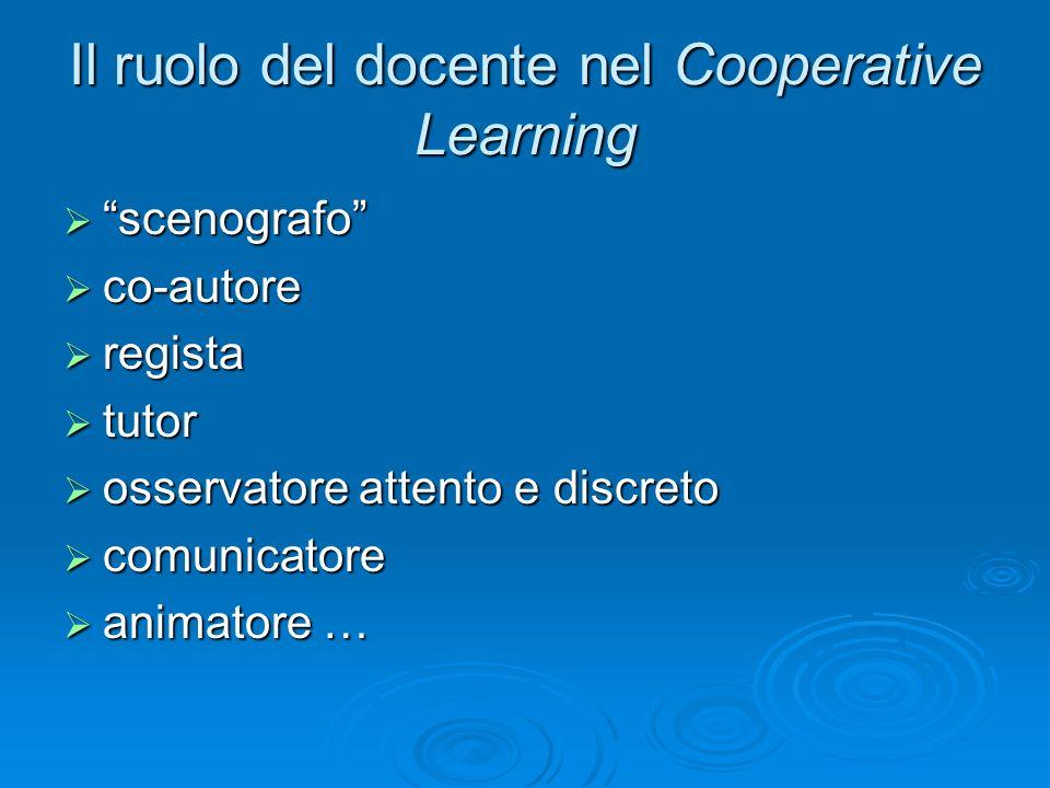 Il ruolo del docente nel Cooperative Learning