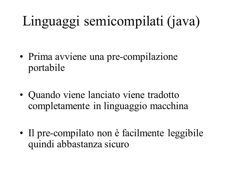 Linguaggi semicompilati (java)