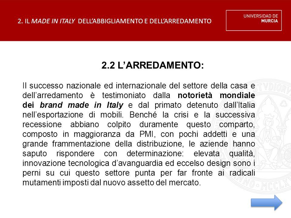2. IL MADE IN ITALY DELL'ABBIGLIAMENTO E DELL'ARREDAMENTO