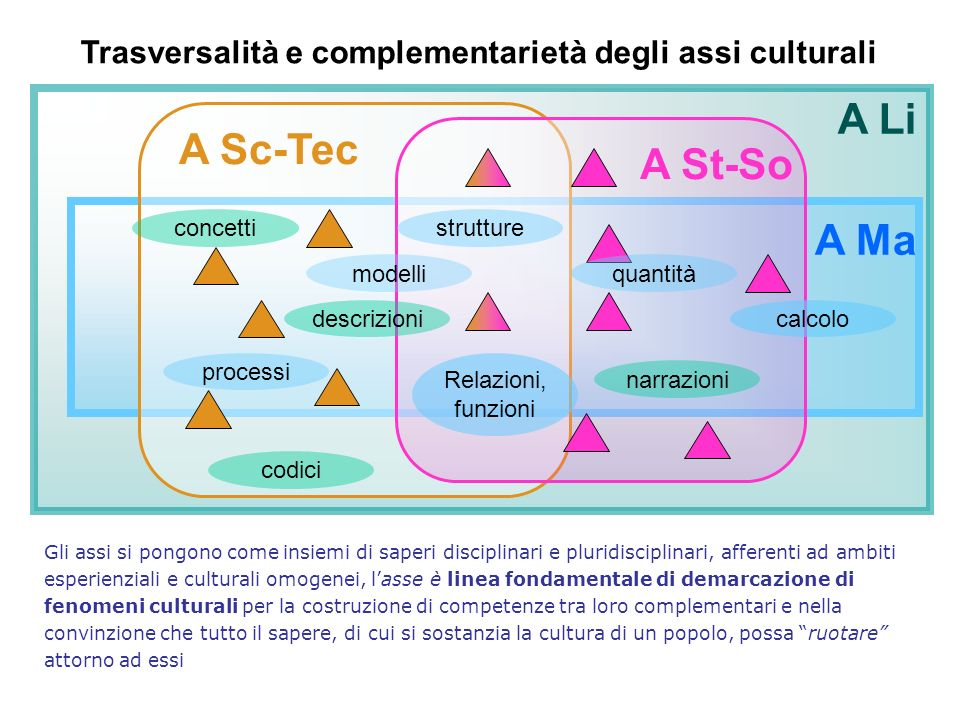 Trasversalità e complementarietà degli assi culturali