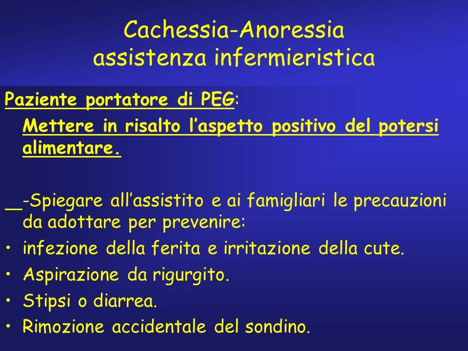Cachessia-Anoressia assistenza infermieristica