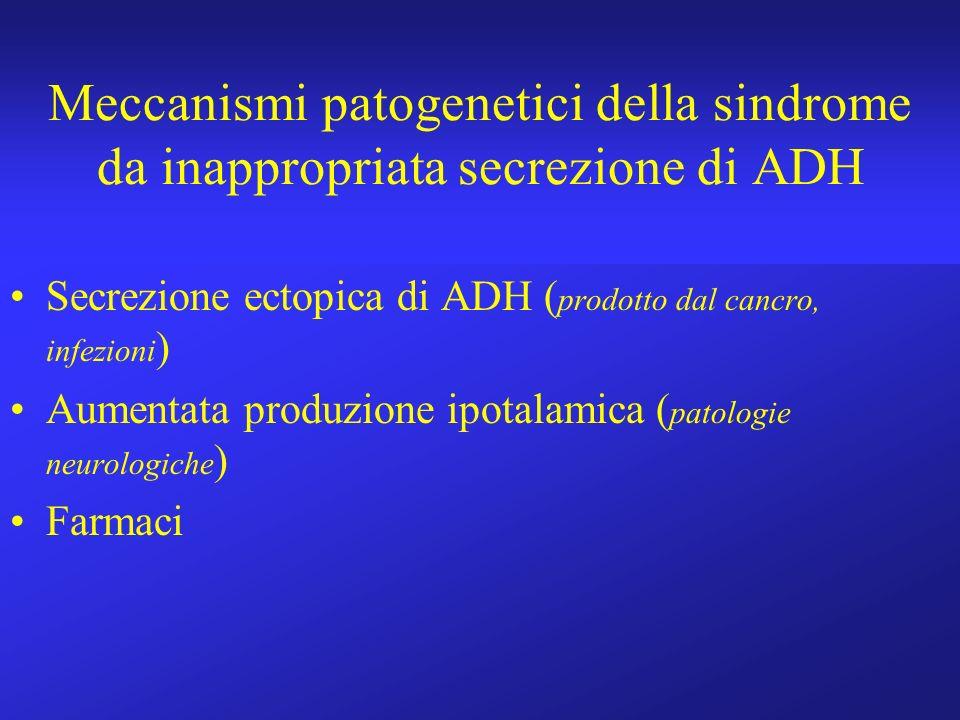 Meccanismi patogenetici della sindrome da inappropriata secrezione di ADH